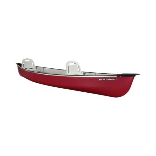 Canoe Explorer 14.6 Dlx /Burgundy Red/Tin Grey